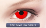 RED DEVIL MINI SCLERA 17 mm - Crazy & Fun Contact Lenses